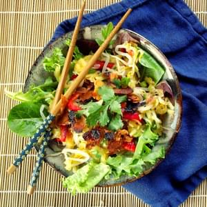Thai Green Mango Salad with Coconut Bacon