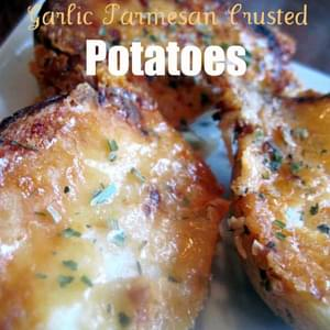Garlic Parmesan Crusted Potatoes
