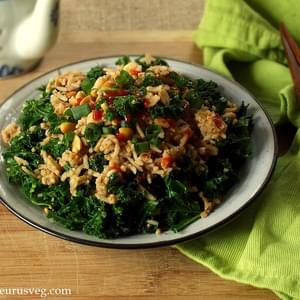 Peanut Butter and Kale Fried Rice