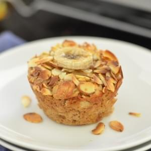 Vegan Banana Almond Baked Oatmeal Cups + a GIVEAWAY!