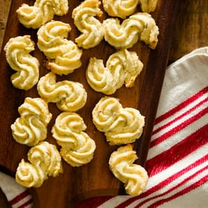 Italian Polenta Cookies with Goat Cheese and Rosemary