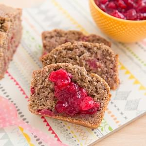 Leftover Cranberry Sauce Bread