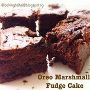 Quick & Easy 30 minutes Oreo Marshmallow Fudge Cake