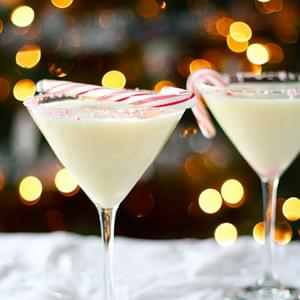 Creamy Dairy-Free Candy Cane Cocktail