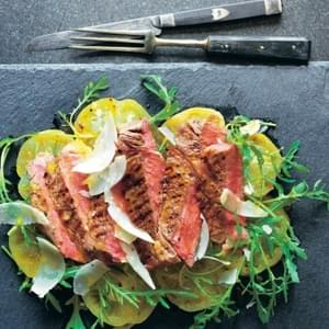 High Steaks! Tagliata With Green Tomatoes, Oregano And Mustard