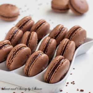 Sea Salt Chocolate Macarons