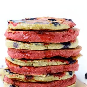 Red White & Blueberry Pancakes