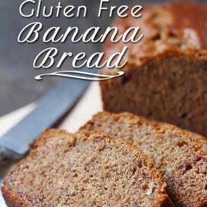 Gluten Free Banana Bread (Dairy Free and Vegan)
