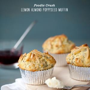 Lemon Almond Poppyseed Muffins