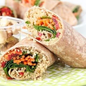 Quinoa Veggie Wrap Recipe {Vegan}