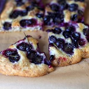 Grape Focaccia with Rosemary