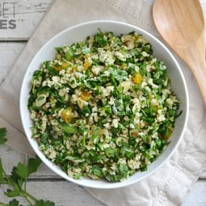 Parsley Salad with Almonds and Apricots
