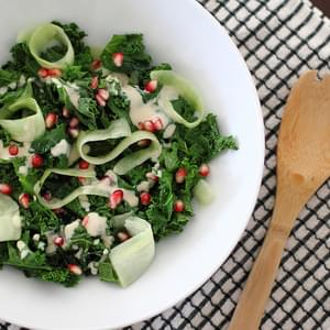 Kale Caesar Salad With Pomegranate & Melissa's Produce