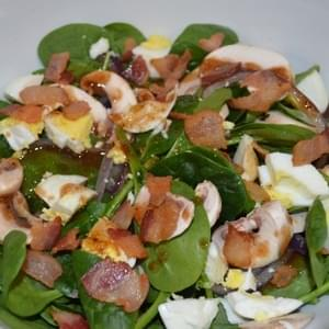 Spinach Salad with Warm Maple Bacon Vinaigrette