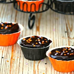 Halloween Dark Chocolate Ganache Cupcakes