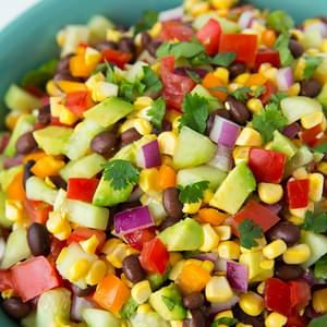 Mexican Chopped Salad with Greek Yogurt Cilantro Lime Ranch