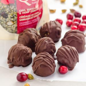 Cranberry Pistachio Dark Chocolate Bites