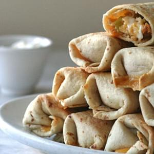 Crispy Baked Chicken Burritos