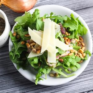 The Perfect Green Salad - Arugula with a Red Wine Vinaigrette