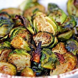 Roasted Brussels Sprouts with Balsamic Vinegar & Honey