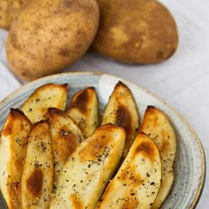 Roasted Potato Wedges with Gomashio (Japanese Sesame Salt)