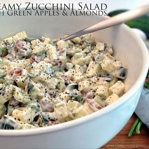 Creamy Zucchini Salad With Green Apples And Almonds