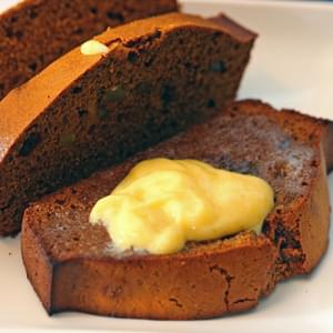 Gingerbread Loaf with Lemon Curd