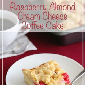 Raspberry Almond Cream Cheese Coffee Cake