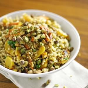 Roasted Delicata Squash and Freekeh Salad