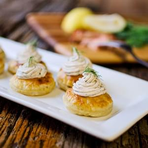 Smoke Salmon & Goat Cheese Puffs