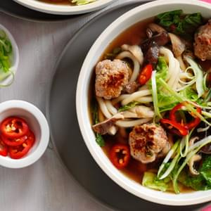 Spicy Pork Meatball And Noodle Soup