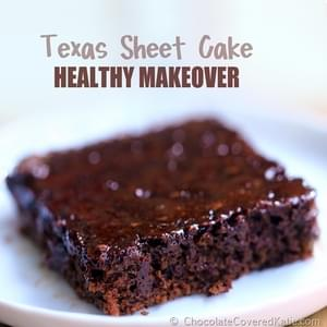 Texas Sheet Cake - Healthy Makeover