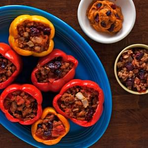 Thanksgiving-Inspired Paleo Stuffed Peppers