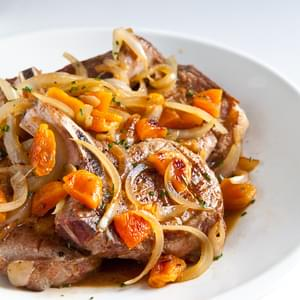 Pork Chops with Apricot Brandy Sauce