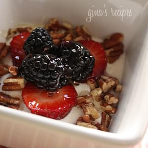 Greek Yogurt with Berries, Nuts and Honey
