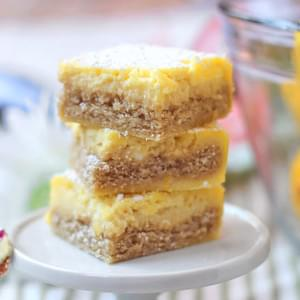 Healthy Lemon Bars (sugar free and gluten free!)