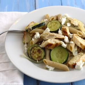 Roasted Zucchini Pasta with Grilled Chicken
