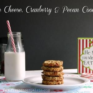 Blue Cheese, Cranberry & Pecan Grown-Up Cookies