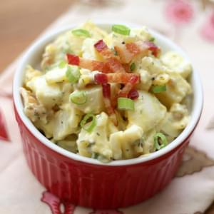 Ranch Potato Salad with Bacon and Eggs