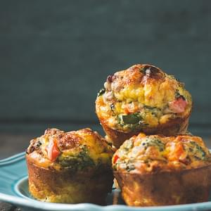 Crustless Mini Quiche (single serving breakfast muffins)