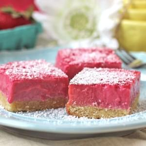 Healthy Pink Raspberry Lemonade Bars