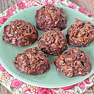 No Bake Chocolate Oatmeal Cookies {Nut & Gluten Free}
