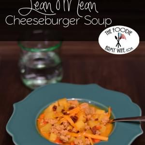 Lean Mean Cheeseburger Soup