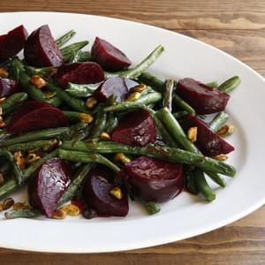 Green Bean Beet and Pistachio Salad