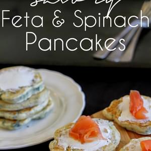 Feta and Spinach Pancakes