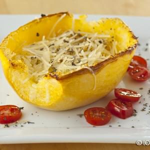 Roasted Spaghetti Squash with Basil and Parmesan