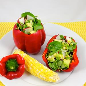 Watercress Stuffed Bell Pepper Salad
