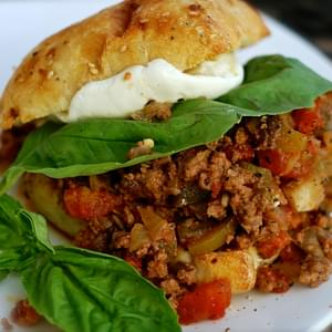 Messy Giuseppes {sloppy Joe's Italian Cousin}