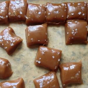 Bourbon Sea-Salt Caramels