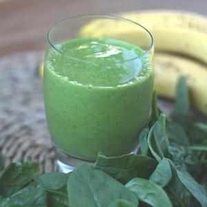 Simple Banana Spinach Smoothie